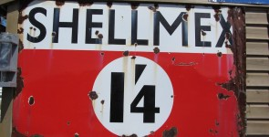 Original SHELLMEX Enamel Sign