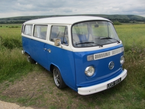 1973 VW Camper Van Rare twin slider tin top model