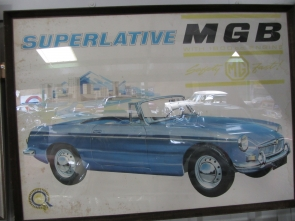 MGB Dealership Framed Poster
