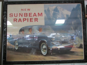 Sunbeam Rapier Framed Advertising Poster