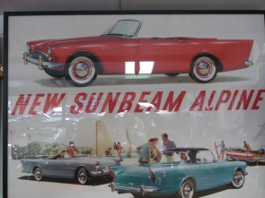 Sunbeam Alpine Framed Advertising Poster