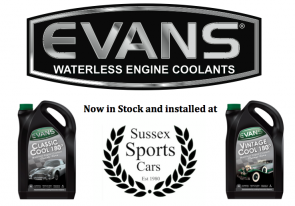 We are now the Proud New EVANS Waterless Coolant Supplier for Sussex