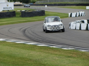 Grant's upgraded Mini Downton racing at Goodwood