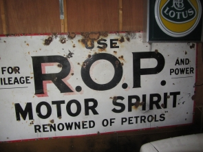 RUSSIAN OIL AND PETROLEUM ENAMEL SIGN