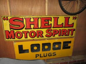 LODGE SPARK PLUGS ENAMEL SIGN