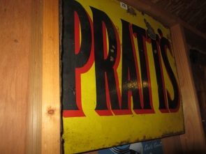 PRATTS ENAMEL SIGN