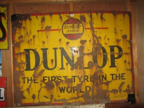 DUNLOP ENAMEL SIGN