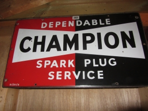 CHAMPION ENAMEL SIGN