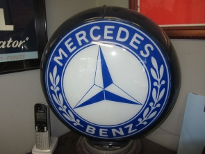 MERCEDES PUMP GLOBE DEALER SIGN