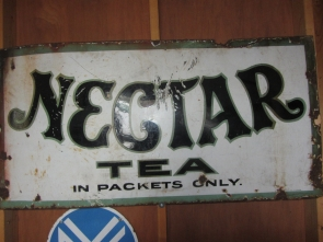 NECTER TEA ENAMEL SIGN