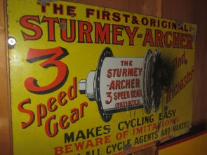 STURMEY ARCHER ENAMEL SIGN