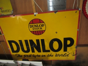 DUNLOP LARGE  ENAMEL SIGN