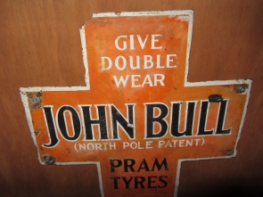 JOHN BULL SMALL ENAMEL SIGN