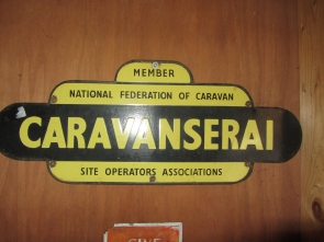 CARVANSERAI ENAMEL SIGN