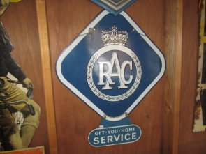 RAC ENAMEL SIGN