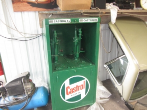 CASTROL OIL DISPENCING CABINET