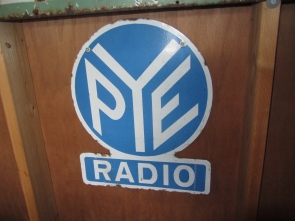 PYE RADIO METAL SIGN