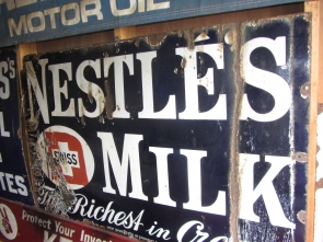 NESTLES MILK ENAMEL SIGN