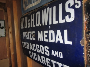 WILLS TOBACCO ENAMEL SIGN
