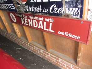KENDAL OIL METAL DEALER SIGN