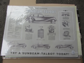 SUNBEAM TALBOT REPRODUCTION POSTER