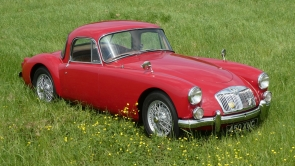 1958 MG A Coupe,  previous owner for 45 years