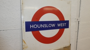 Hounslow West Underground Station Sign