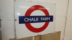 Chalk Farm London Underground Station Enamel Sign