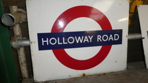 London Underground Station Enamel Sign Holloway Road