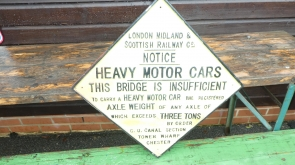 London Midland Railway Cast Iron Bridge Sign