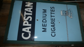 Capstain Cigarettes Enamel Sign