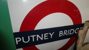 Putney Bridge London Underground Enamel Sign