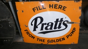 Pratts Petrol Enamel Sign