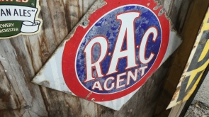 Early RAC Enamel Sign