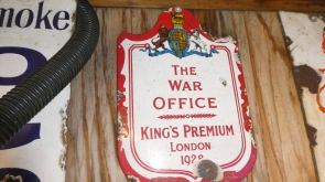 The War Office Insurance Enamel Sign