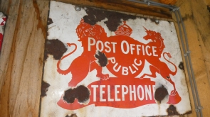 Telephone Enamel Sign