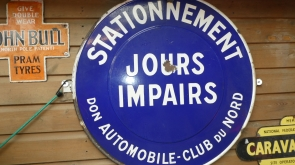 Automobile Club Du Nord Enamel Sign